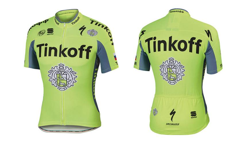 Disponible la nueva equipación  del Tinkoff Team de Sportful