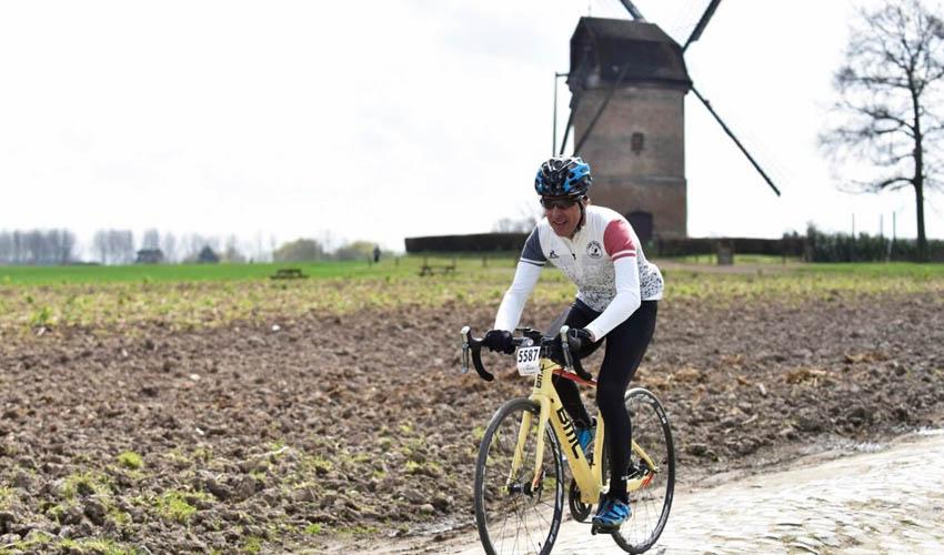 Pedro Delgado en la París-Roubaix Challenge