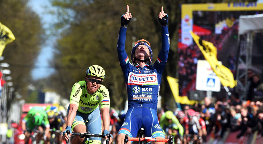 Amstel Gold Race: Gasparotto repite y dedica el triunfo a Demoitié