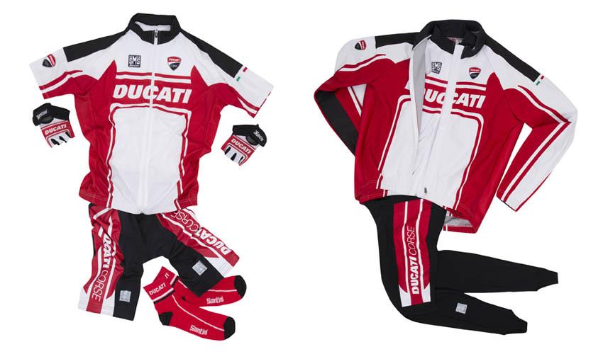 Santini lanza una línea con los colores de Ducati