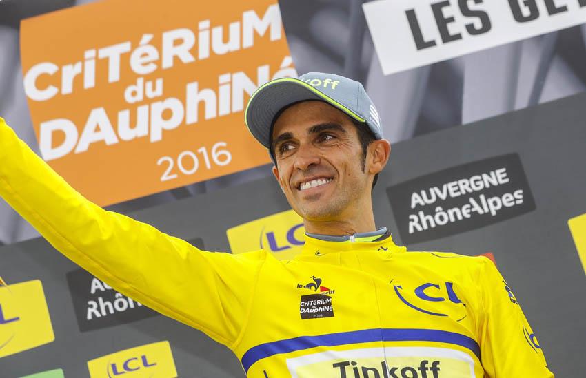 Contador mete miedo en el primer test del Dauphine