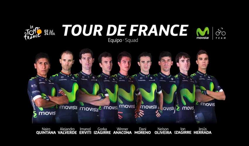 Movistar Team anuncia su equipo para el Tour de Francia