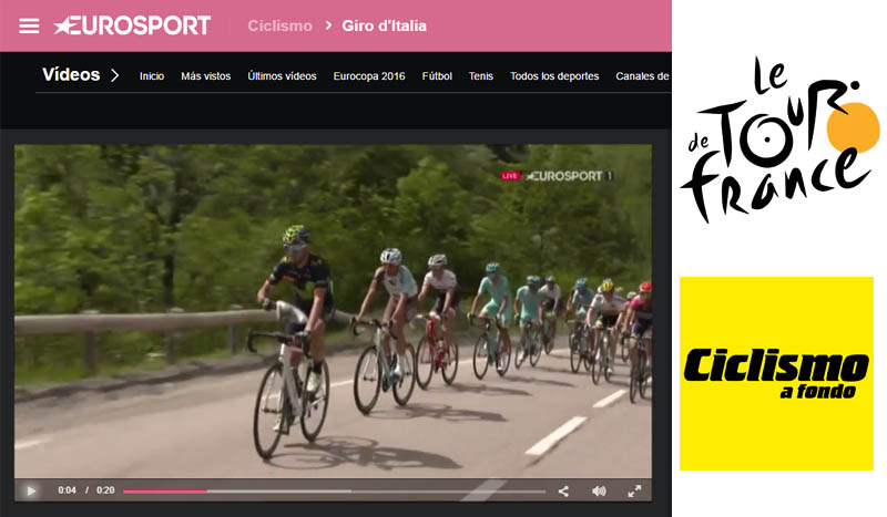 El Tour en vivo con los vídeos de Eurosport