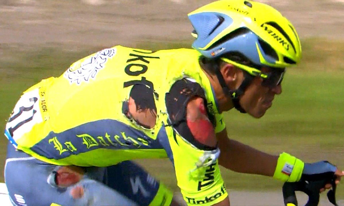 Vídeo: caída de Alberto Contador