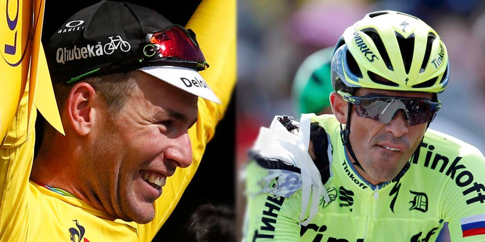 Cavendish y Contador, las dos caras del Tour