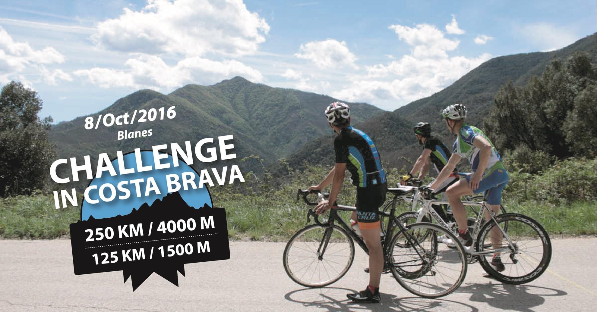 La marcha cicloturista 250/4000 Challenge in Costa Brava en octubre