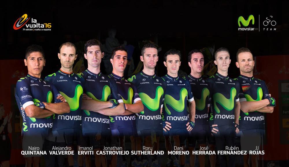 Resultado de imagen para movistar team 2016 vuelta a españa
