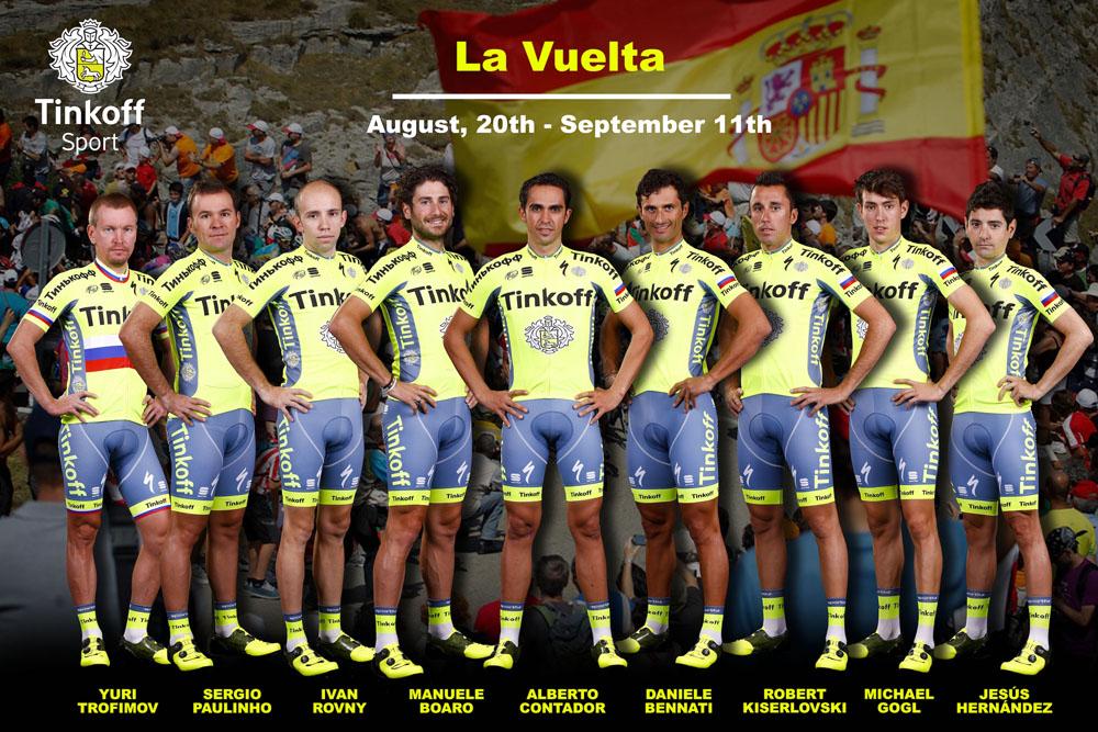 Contador ya conoce su guardia para la Vuelta a España