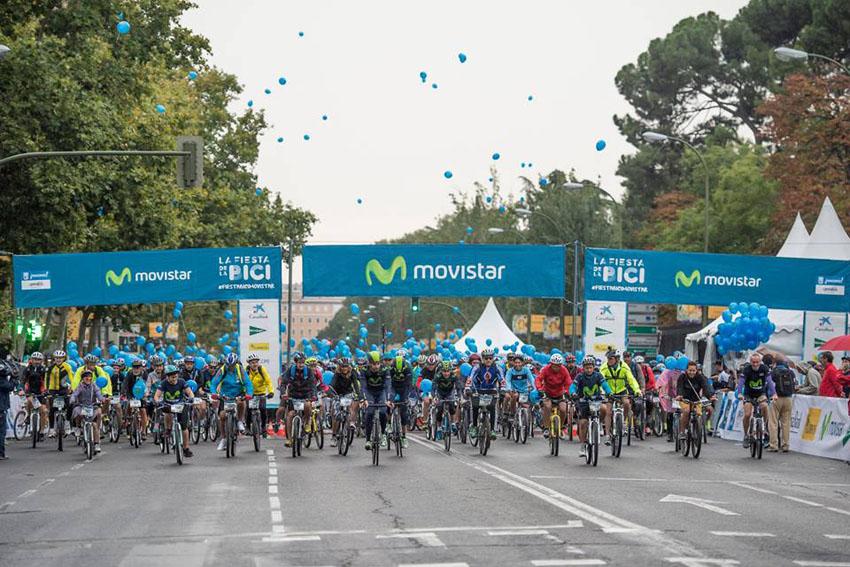 Fiesta de la bici Movistar: un nuevo formato para un Madrid más ciclista