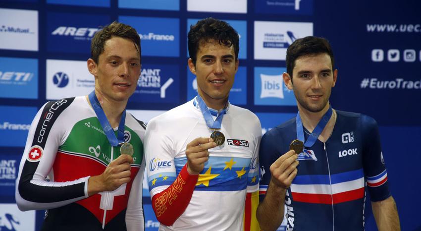 Albert Torres, brillante campeón de europa de Omnium