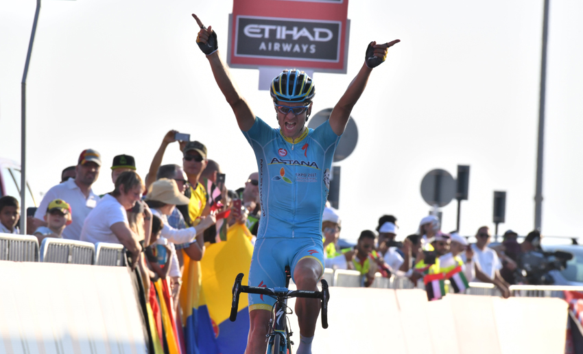 Etapa y general para Kangert en Abu Dhabi; Contador, 5º