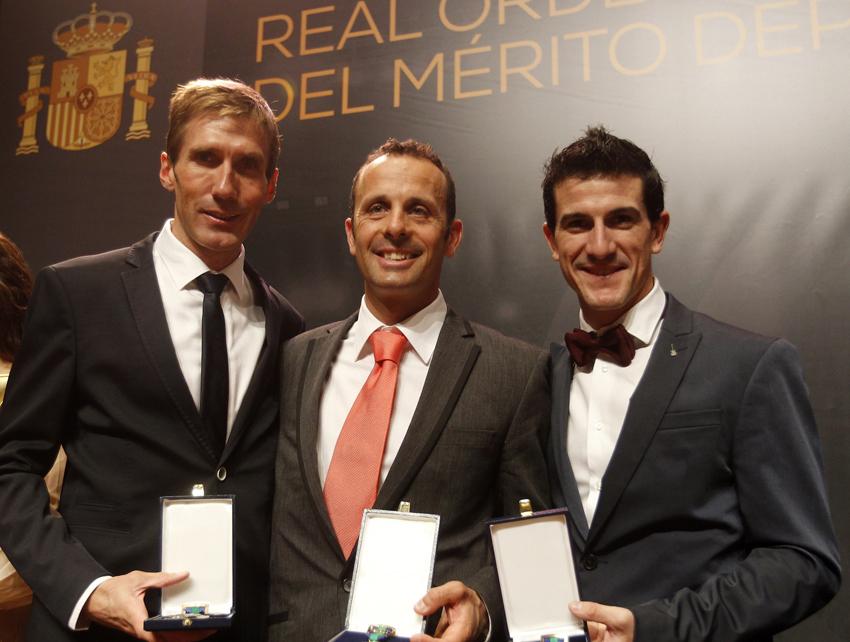 Lastras, Hermida y Coloma reciben sus medallas de la Real Orden del Mérito Deportivo