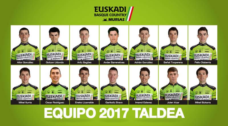 Euskadi Basque Country – Murias Taldea anuncia su plantilla para 2017