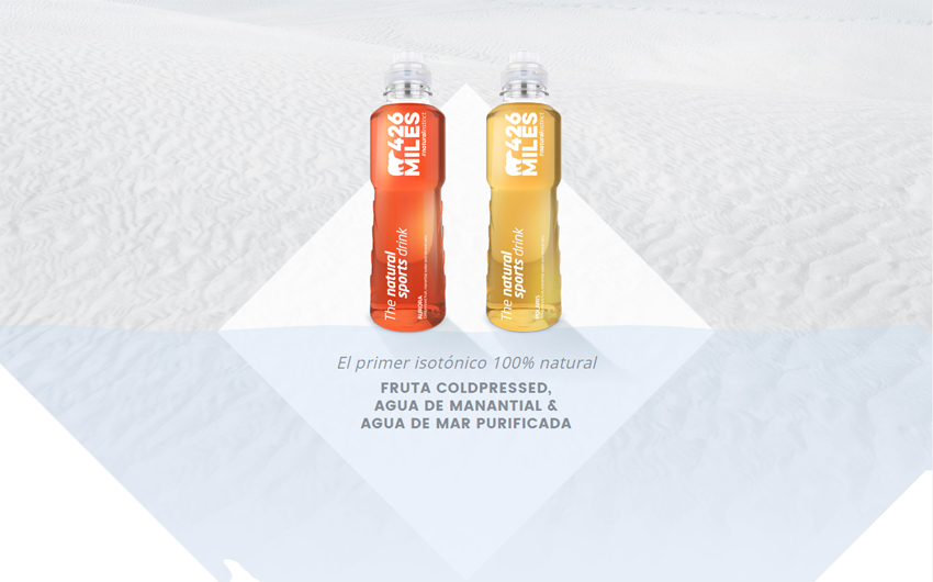 426Miles, la primera bebida isotónica 100% natural