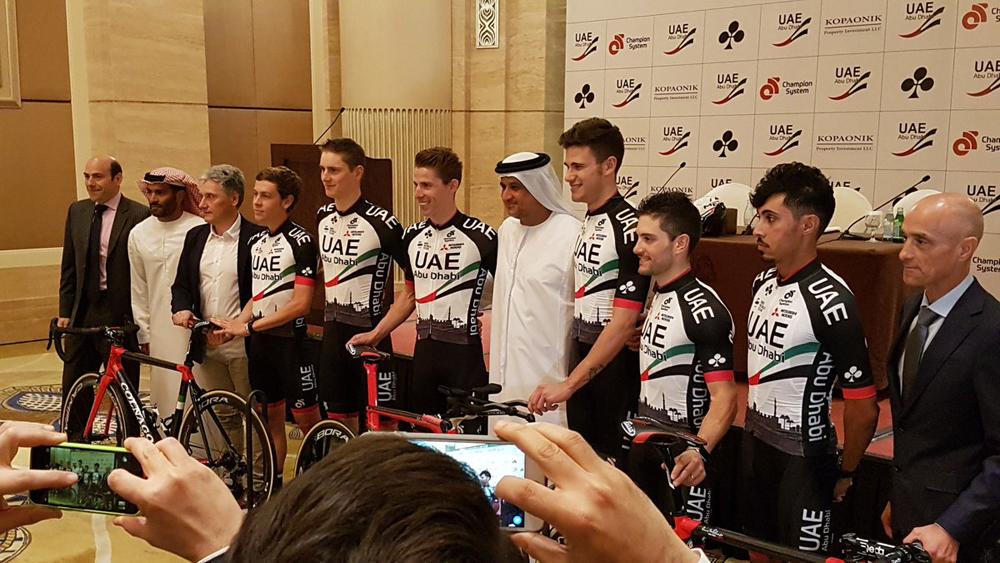 El UAE-Abu Dhabi, antiguo Lampre-Merida, se presenta oficialmente