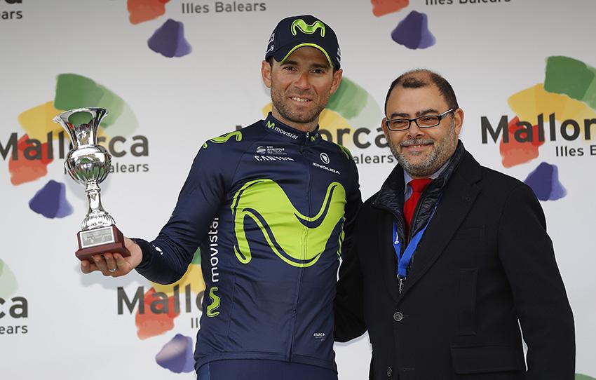 Valverde, al poste en la Challenge de Mallorca