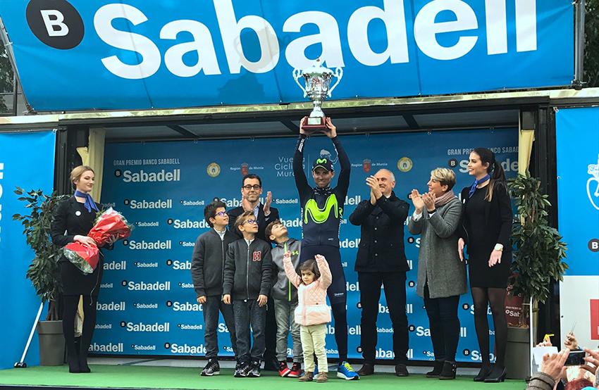 """Valverde: """"Es una victoria especial: estoy en mi tierra, y por ella y por todos los murcianos va este triunfo"""""""