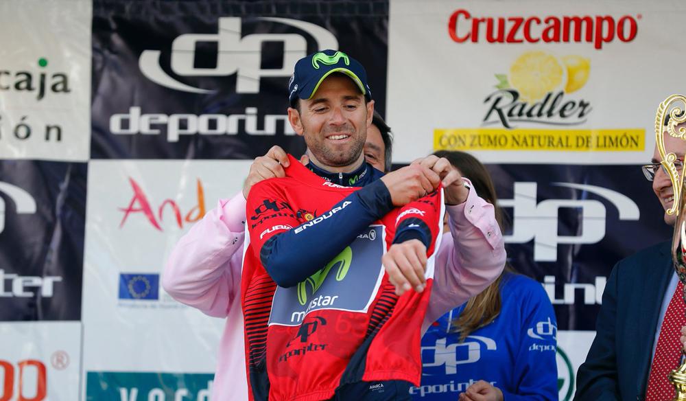 Valverde se hace con el liderato sobre Contador por un segundo