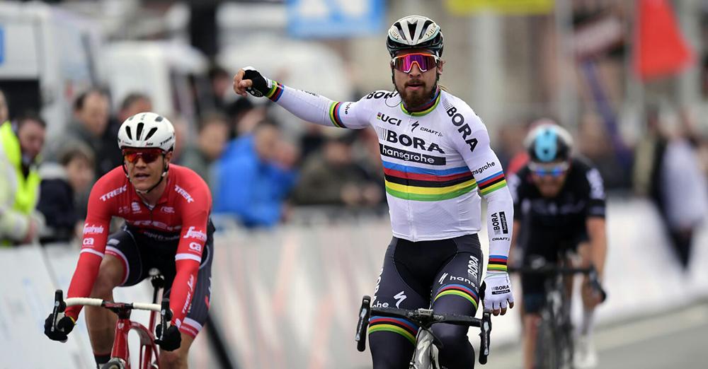 Sagan se estrena con el Bora en la Kuurne