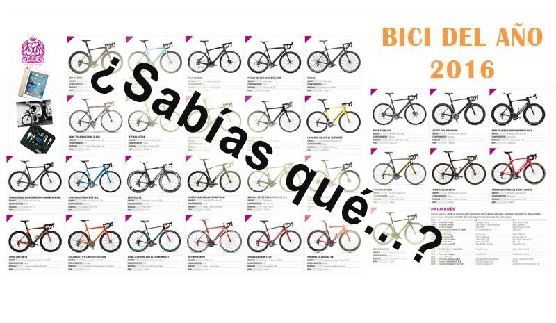 Los votantes de la Bici del Año 2016