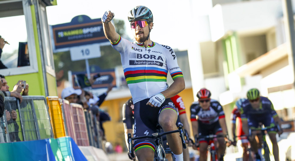 Peter Sagan, con una pierna