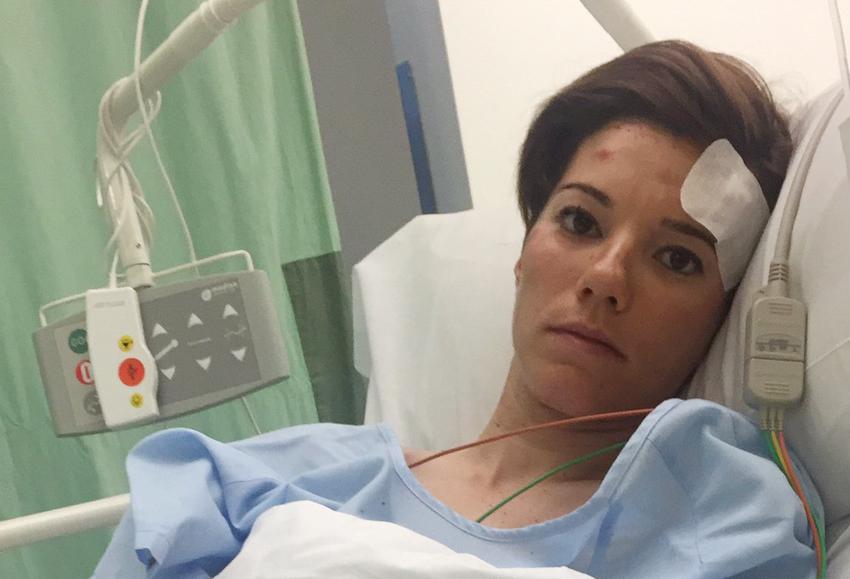 Ane Santesteban, fuera de peligro tras sufrir un fuerte accidente
