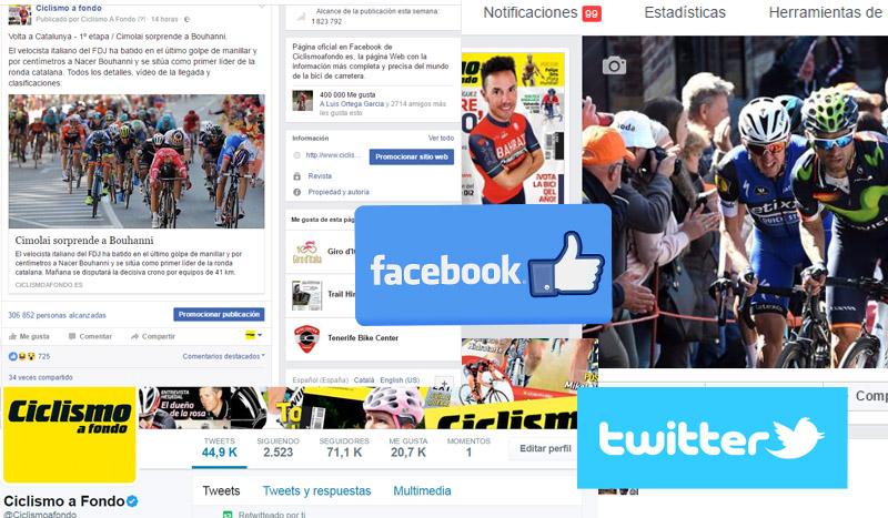 Las redes sociales de Ciclismo a Fondo imparables
