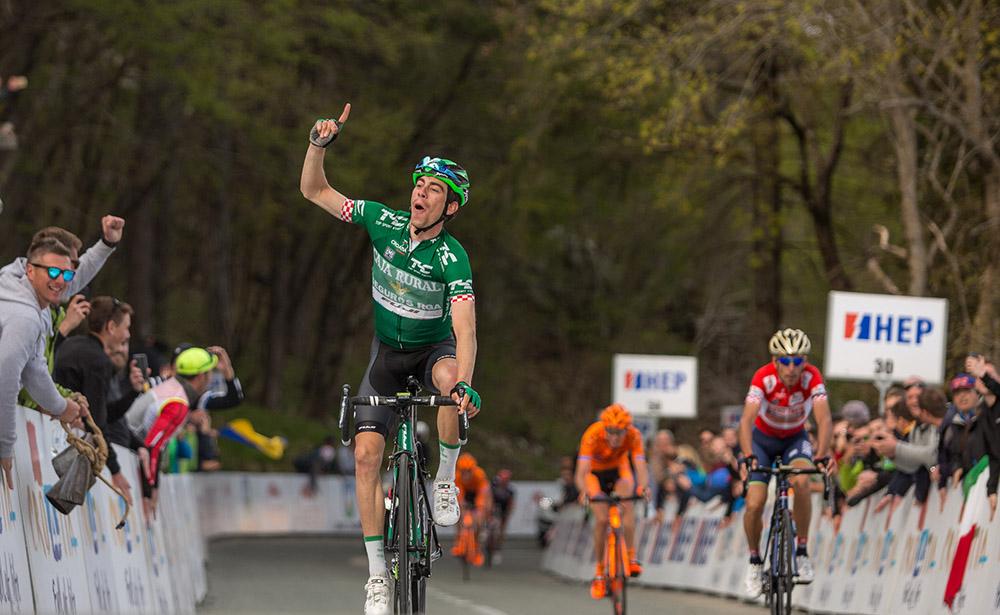 Rosón doblega a Nibali para hacerse con la etapa reina y el liderato en Croacia