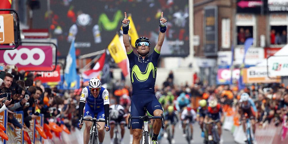 Un estelar Valverde gana por cuarta vez en Lieja y se lo dedica al malogrado Scarponi