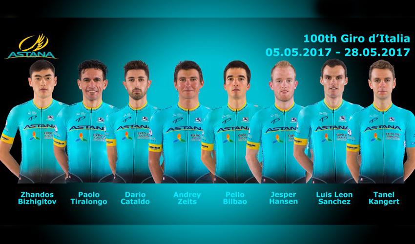 Astana correrá con 8 ciclistas el Giro en homenaje a Scarponi