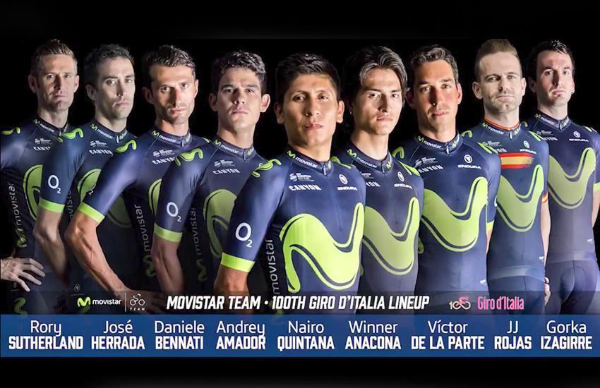 Movistar Team anuncia su equipo para el Giro