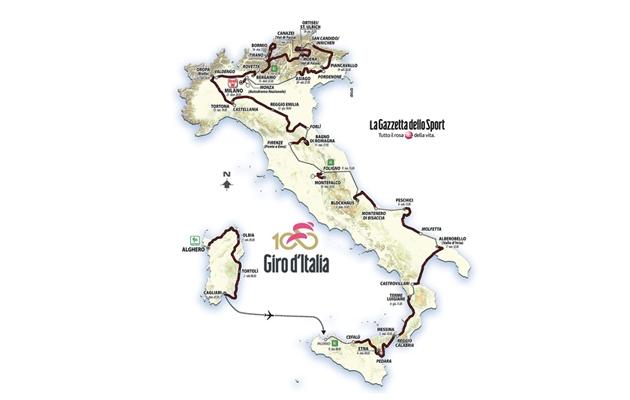 Giro de Italia 2017, el recorrido del centenario (perfiles)