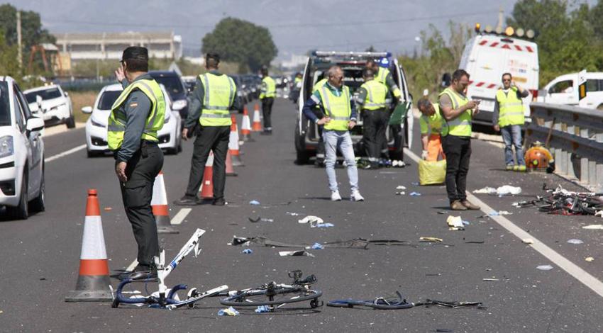 Fallece un tercer ciclista de los atropellados en Oliva