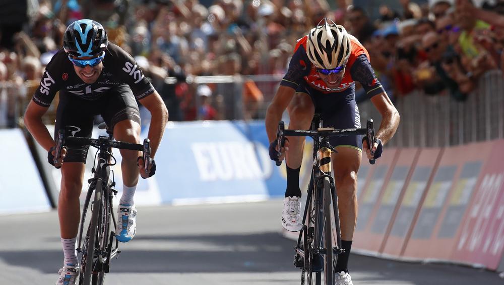 El 'apretón' de Dumoulin ajusta el Giro; etapa para Nibali