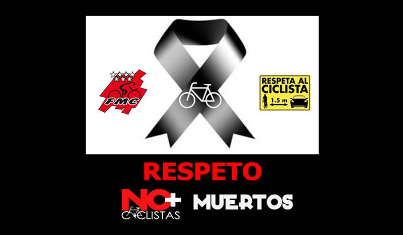 """Madrid, Puerta del Sol, 28 mayo: Concentración """"No más ciclistas atropellados y respetuo mutuo en carretera"""""""