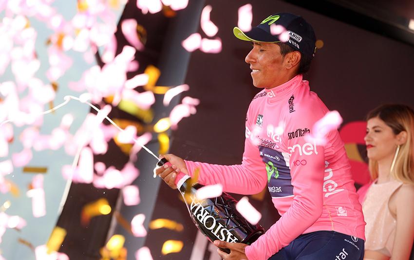 """Quintana: """"Tenemos la maglia rosa y trataremos de honrarla"""""""