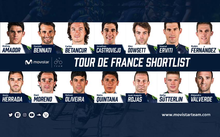 Movistar anuncia una preselección de 14 corredores para el Tour de Francia