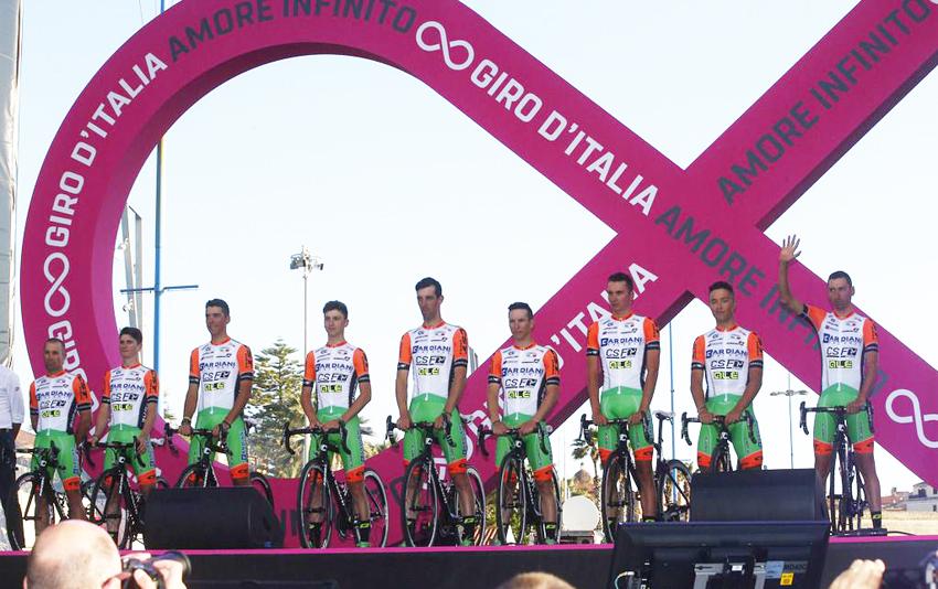 La UCI suspende durante 30 días al Bardiani-CSF
