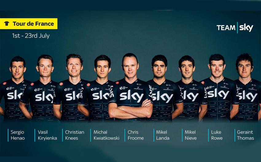 Froome ya conoce a los ocho ciclistas que le acompañarán en el Tour