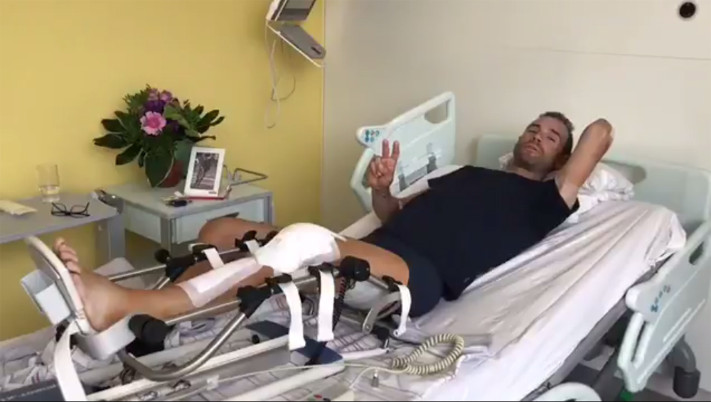 Vídeo: Valverde ya dobla la rodilla 36 horas después de su operación