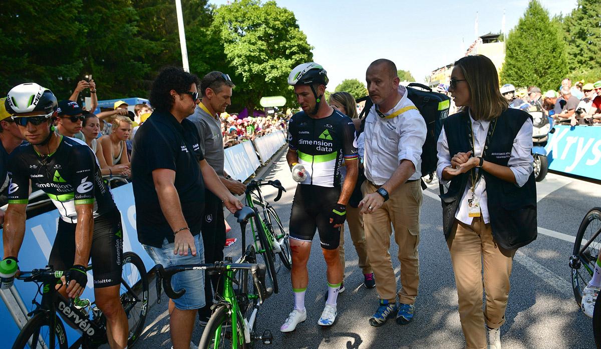 """Cavendish: """"Quiero hablar con Sagan sobre la caída"""""""