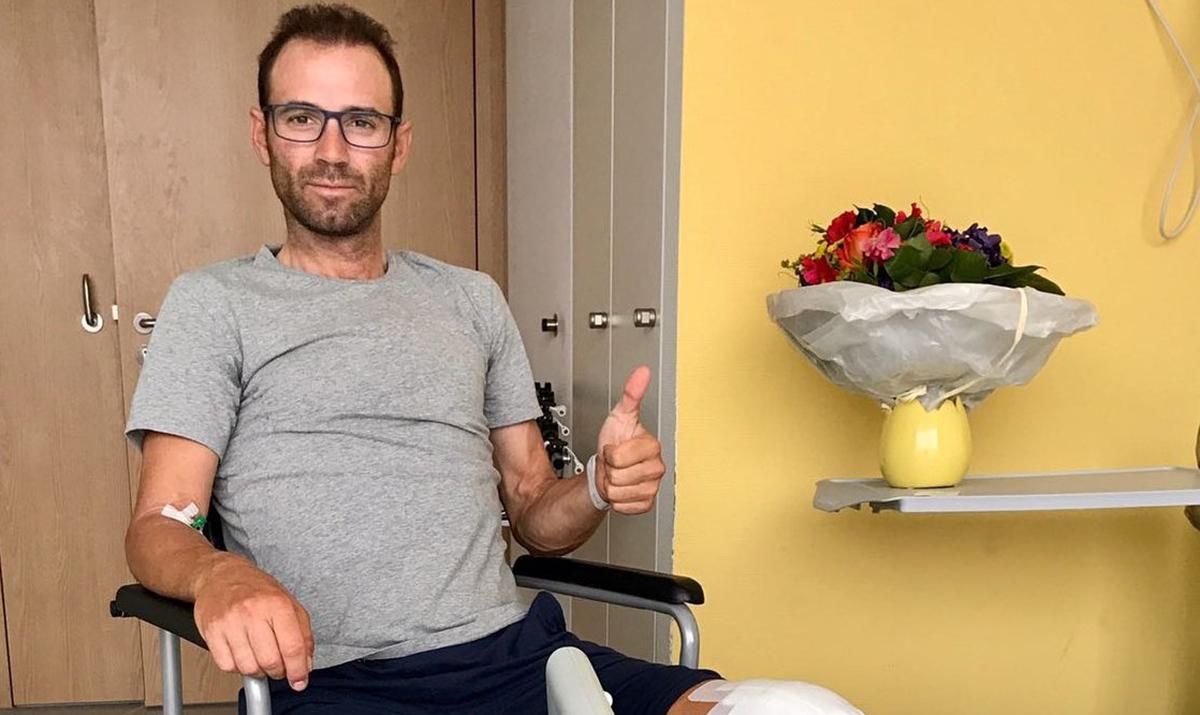 """Valverde: """"Cuando me vi la rótula pensé que se había acabado mi carrera deportiva"""""""