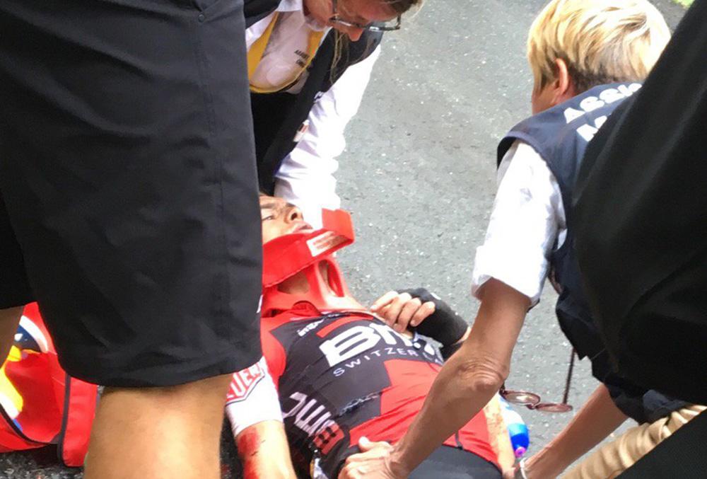 Porte se marcha del Tour tras una durísima caída