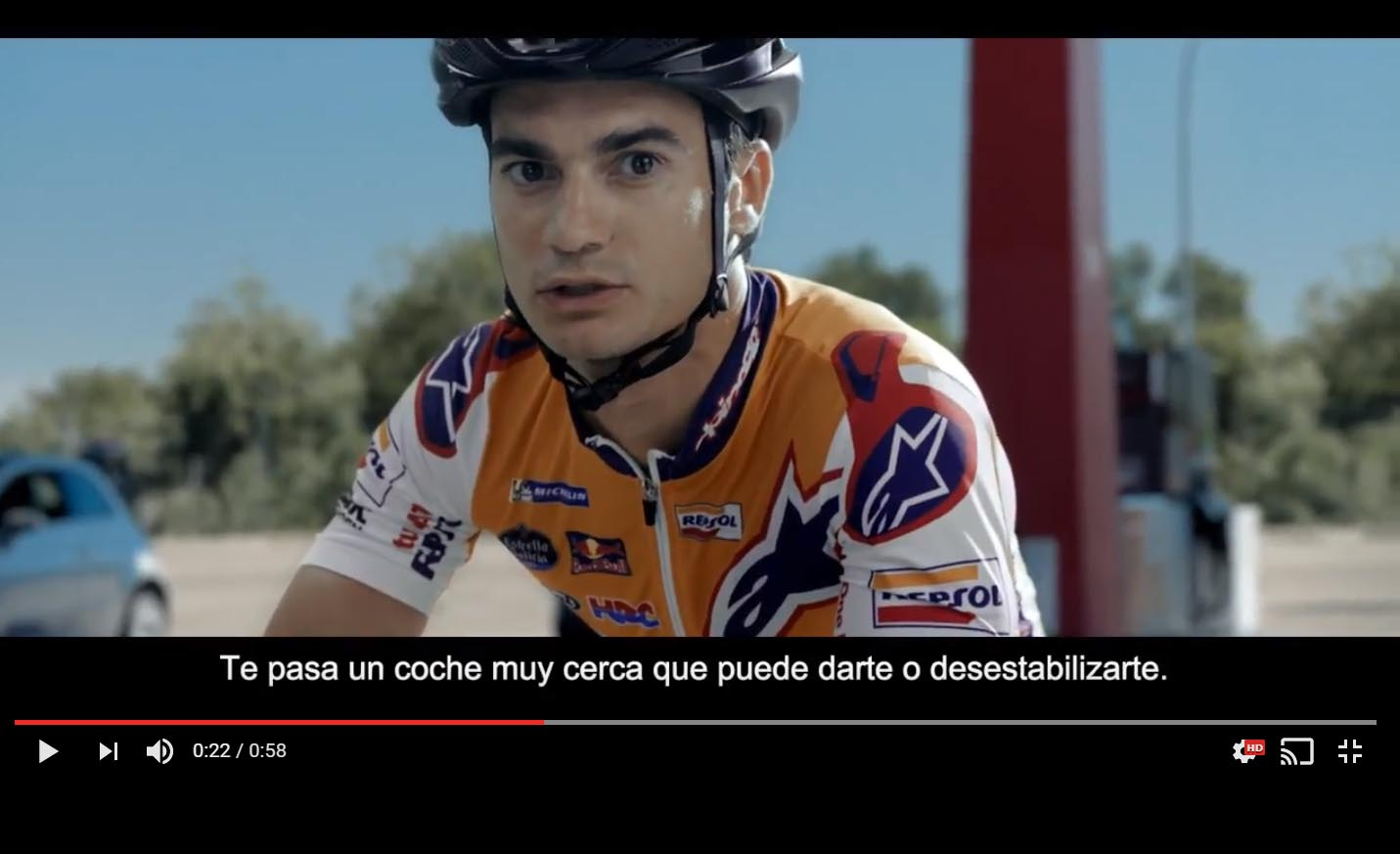 Vídeo: Dani Pedrosa en favor de los ciclistas