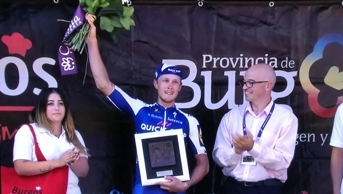 Vuelta a Burgos 2017 2ª etapa, Matteo Trentin doble celebración
