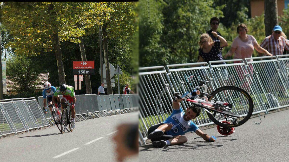 Polémica: Bouhanni gana en el Tour de l'Ain tras la caída de Maldonado