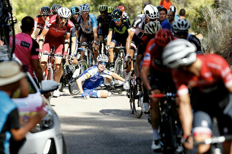 David De la Cruz se cayó en el Garbí