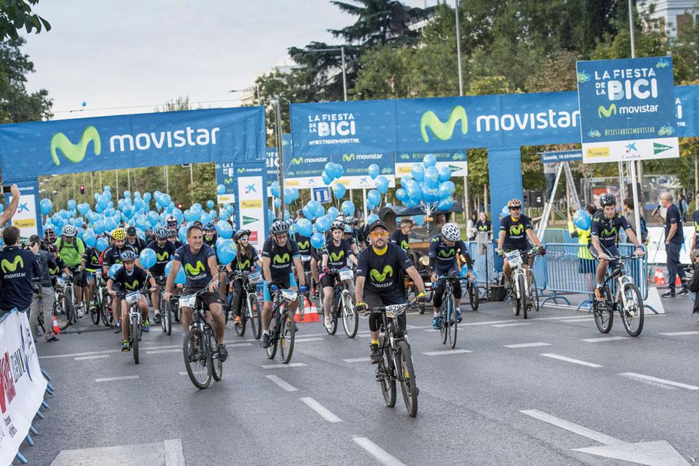 Este domingo, la bicicleta tomará Madrid en la Fiesta de la Bici Movistar