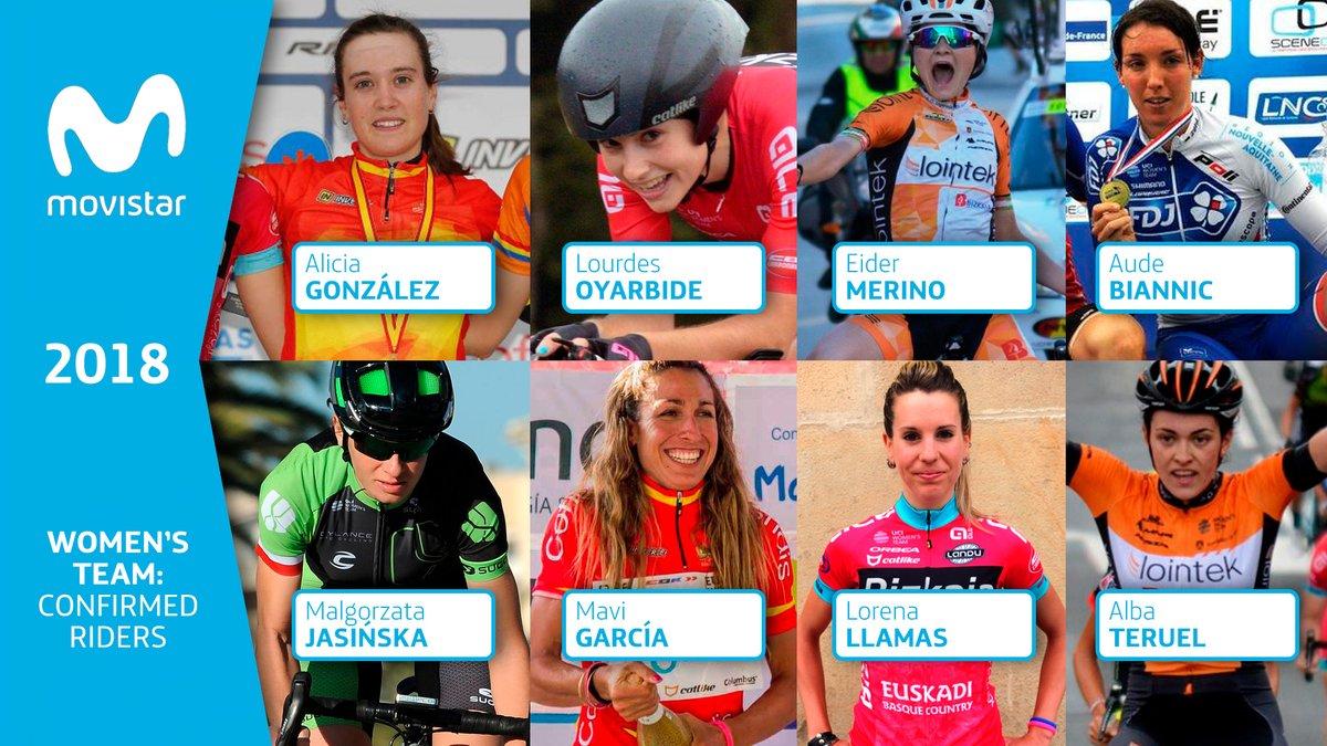 El Movistar Team femenino ya cuenta con 8 corredoras