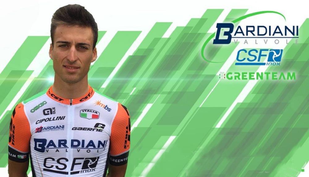 Bresciani, tercer positivo del Bardiani-CSF en 2017